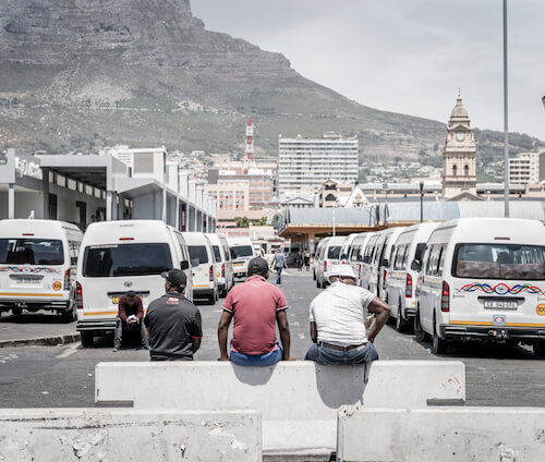 Cape Town taxi rank - image by Alexey Stiop/shutterstock