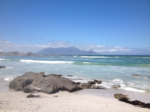Cape Town Table Mountain from Big Bay