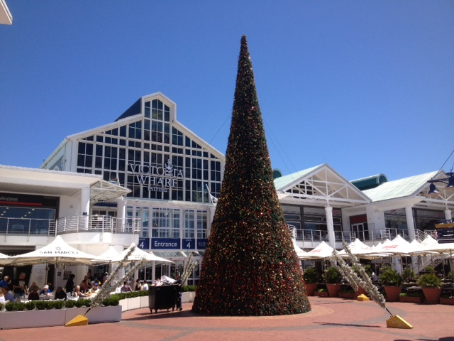 Christmas tree in Cape Town at the V&A Waterfront