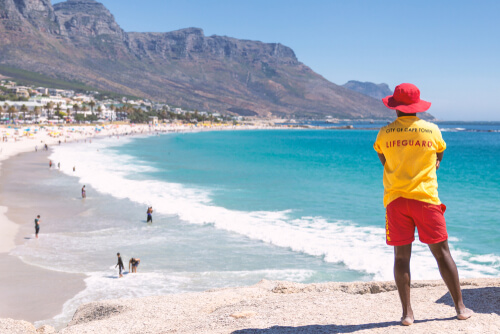 Lifeguard at Cape Bay Beach by Dmitrii Sakharov/shutterstock.com