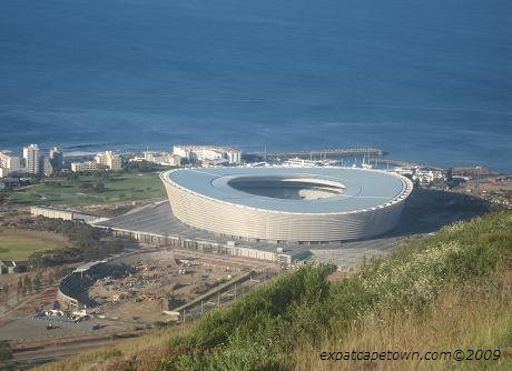 Cape Town Stadium as seen from Signal Hill