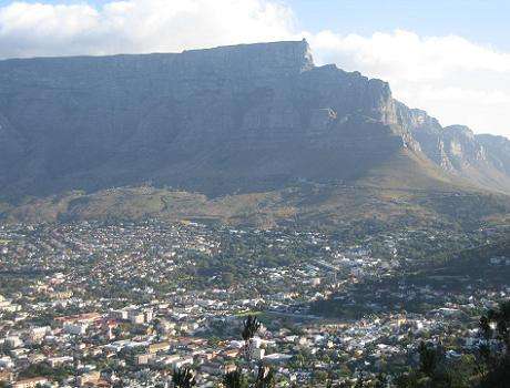 Views towards Table Mountain from Lions Head