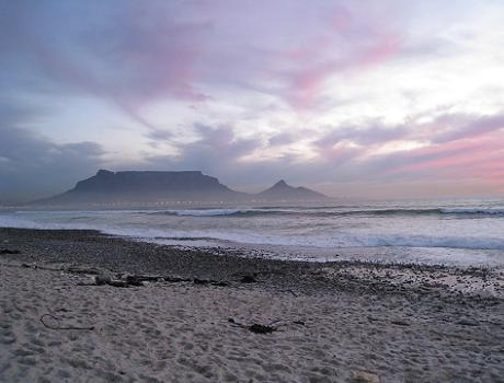 Sunset Views of Table Mountain from Blouberg Beach
