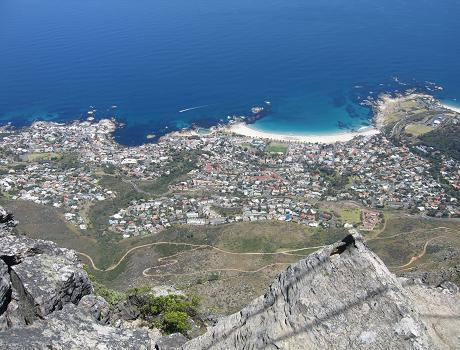 Views down to gorgeous Camps Bay
