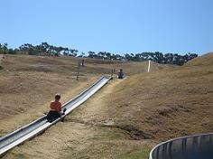 Getting pulled uphill on the Cape Town Toboggan