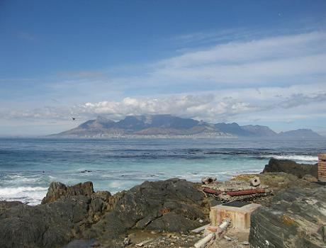 View from the island towards Cape Town