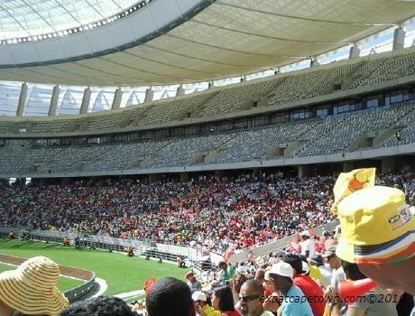 The new Cape Town stadium inside