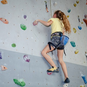 Girl at City Rock Climbing in Cape Town