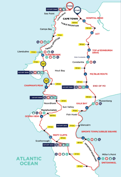 Cape Town Cycle Tour route info