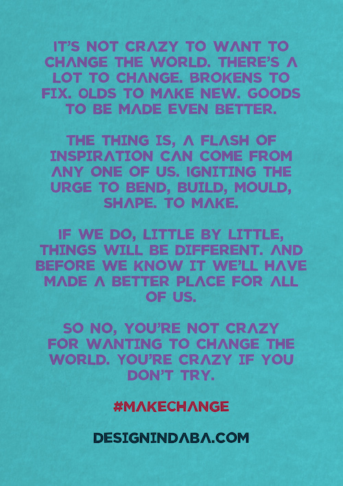 Design Indaba 2015 Manifesto