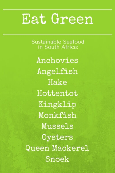 Eat green - Sustainable Seafood Choices - ExpatCapeTown