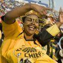 South Africa Football: Kaizer Chief soccer fan, copyright by mediaclubsouthafrica