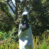 One of the sculptures at Kirstenbosch Gardens