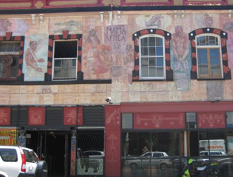 Mama Africa Restaurant in Long Street Cape Town