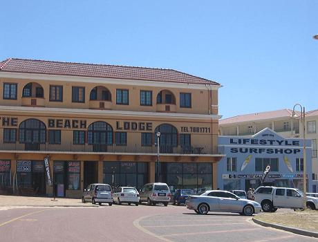Hotels, Bars and Surf Shops at Surfers Corner in Muizenberg