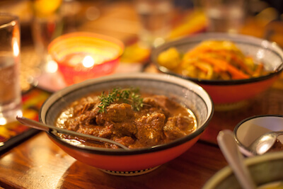 Typical South African food - Curry