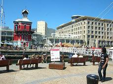 The red Clocktower at the Waterfront in Cape Town