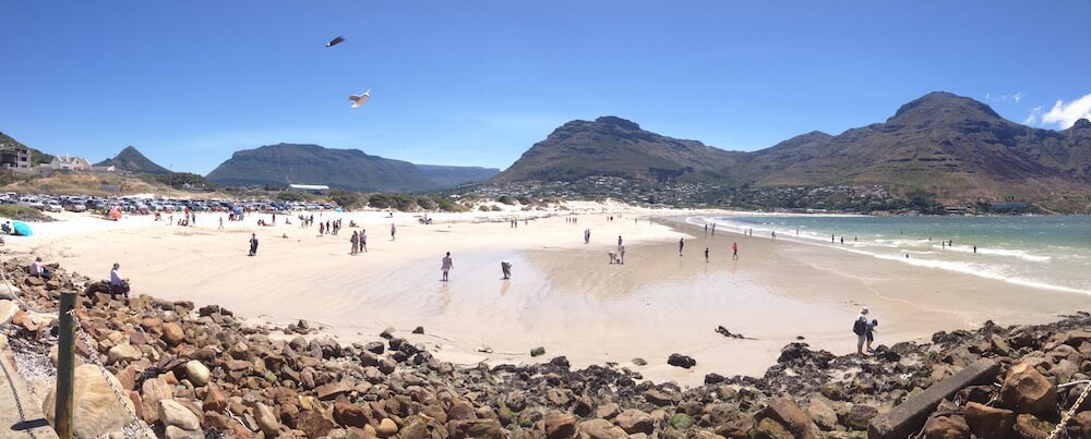 Hout Bay beach panorama taken by ExpatCapeTown