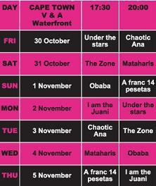 Cape Town programme