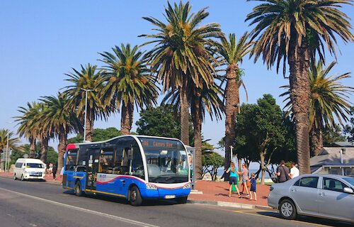MyCiti bus in Camps Bay - image by A.Mertens/shutterstock