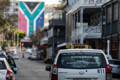 Cape Town Taxi - image by gabrielaraujo1510/shutterstock