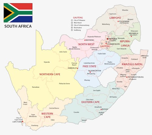 Cape Town South Africa map - ExpatCapeTown/Shutterstock