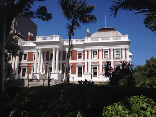 Cape Town parliament in Cape Town city center