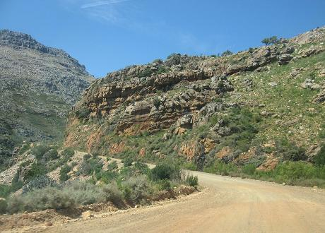 Most of the roads in the mountains are untarred.