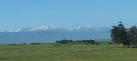Cape Town Snow in the mountains