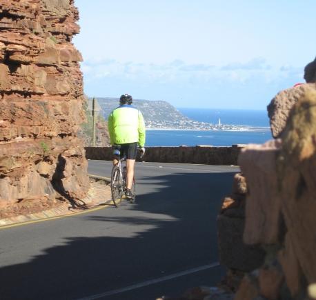 Cycling on Chapman's Peak Drive