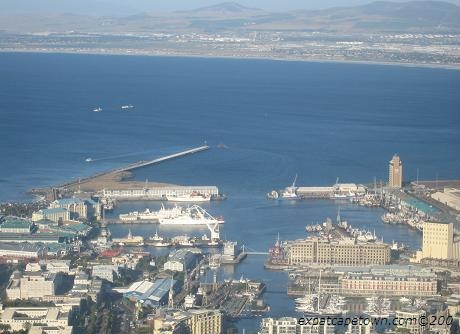 V&A Waterfront Cape Town as seen from Signal Hill