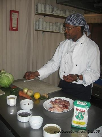Head chef at Eziko Cooking School in Langa