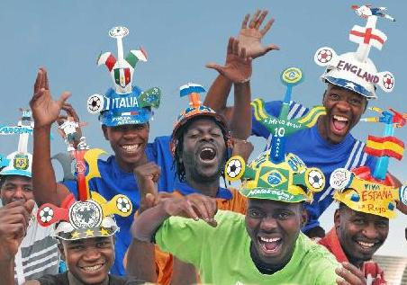Cape Town in World Cup Fever: The team of Makoya Makaraba. Picture by: makaraba.co.za
