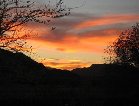 Sunset over the Namib Desert