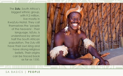 Zulu man smiling - Living in South Africa expat guide book, image courtesy of SA Tourism