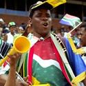 South African soccer fan, copyright by safarinow