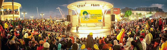Cape Town Waterfront Events: V&A Waterfront Amphitheatre 2010, courtesy of V&A Waterfont Tourism.