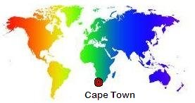 Cape Town on the World Map
